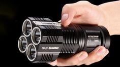 Nitecore Tiny Monster flashlight belts out 3,500 lumens By Ben Coxworth  April 22, 2013