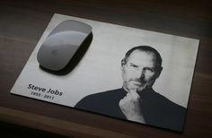engraved stainless steel in memorial to Steve Jobs. by www.laser-tattoo.de