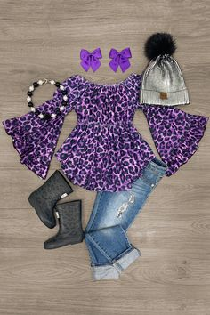 Cute Little Girls Outfits, Little Girl Fashion, Baby Girl Dress Design, Sleeve Designs, Cheetah Print, Boutique Clothing, Bell Sleeves, Girls Dresses, Feminine