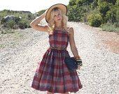 Items similar to Beautiful 50s Mad Man Checkered Dress (XXXS) on Etsy