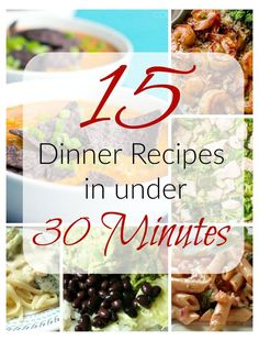 Stress or no time? Try these quick and easy 15 Dinner Recipes in under 30 minutes and prepare a fast dinner on busy nights for your family. Fast Dinners, Quick Easy Meals, Weekly Dinners, Healthy Cooking, Cooking Recipes, Healthy Recipes, Meal Recipes, Good Food, Yummy Food