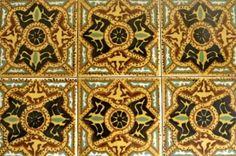 30 Vintage Tiles Hand Painted Ceramic Orion Monterrey Mexico.  via Etsy.