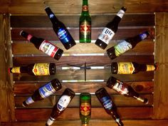 BEERtiFUL Beer Bottle Wooden Clock DYI Made by my husband and daughter as a…
