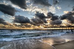 The Avalon fishing pier in the Outer Banks, NC.