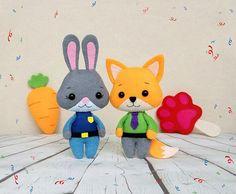 Zootopia Judy Hopps Toys Felt Disney Baby Shower Gift by BelkaUA