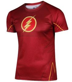 Mens Justice League Flash T-shirt