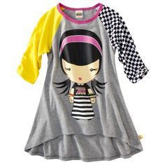 Harajuku Mini for Target® Girls Short-Sleeve Top -  Grey.Opens in a new window