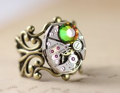 Handcrafted Jewelry, Unique Jewelry, Handmade, Steampunk Rings, Gemstone Rings, Turquoise, Gemstones, Inspiration, Beautiful