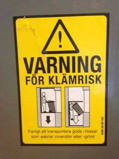 Funny pictures about Beware of klämrisk! Oh, and cool pics about Beware of klämrisk! Also, Beware of klämrisk! Funny Images, Funny Pictures, Elevator Door, Lisa Johnson, Sofa King, My Dentist, Good Humor, Try Not To Laugh, The More You Know