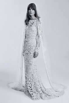 This Elie Saab wedding gown looks incredible when paired with a sleek waist belt and a dramatic veil.