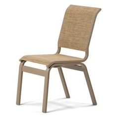 Telescope Casual Aruba Ii Staking Patio Dining Chair (Set of 2) Finish: Textured Graphite, Fabric: Harper
