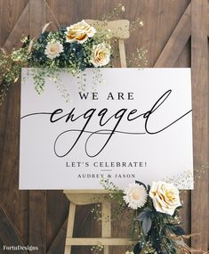 ENGAGEMENT PARTY sign, Engagement welcome sign, Engagement party decorations template, Rustic Engagement decor, 36x24, 24x18, 16x20 #021FD