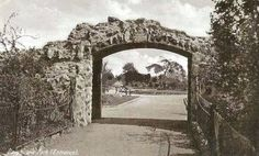 the entrance arch into Davyhulme Park, Urmston, Manchester.  On the corner of Crofts Bank Road and Canterbury Road