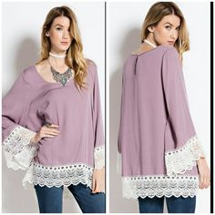 The Mauve Tunic in size S M L Beautiful Mauve Tunic in a fresh rayon material Spring/summer 2016 Perfect with jeans or leggings,   Sizes available S M L  Please indicate your size  PRICE FIRM  Like me on Facebook Sweet-bb Boutique  Tops Blouses