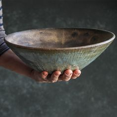 The Progress Collection - Serving Bowl — MMclay - Handmade Pottery & Ceramics by MaryMar Keenan - Pottery designs - Pottery Plates, Slab Pottery, Thrown Pottery, Ceramic Pottery, Pottery Vase, Pottery Wheel, Pho Bowl, Ramen Bowl, Beginner Pottery