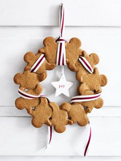 Recipe: Decorate your homes – and fill your stomachs – with these adorable Donna Hay gingerbread men wreaths for Christmas.