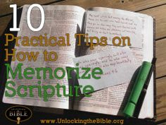 10 Practical Tips on How to Memorize Scripture  #Bible