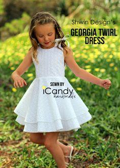 White Eyelet Georgia Twirl Dress