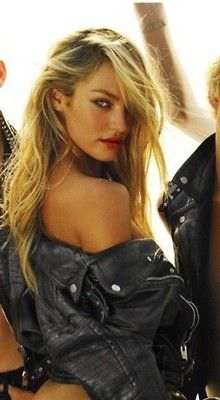 you can never go wrong with a black leather jacket.