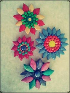 Beautiful clay brooches