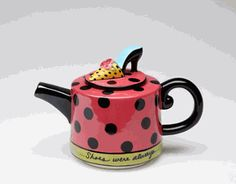 So cute...just the right teapot for ladies who love TEA and SHOES!