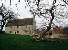 Woolsthorpe Manor in Lincolnshire England. Birthplace of Isaac Newton -born 1642 -  and it was here that he made his discovery about gravity when the apple fell on his head. The house is now owned by the National Trust.