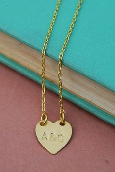 Sweetheart Initials Necklace (note to my future boyfriend, please get this for me I will literally love you forever)