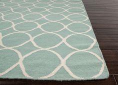Aarya Aqua Trellis Wool Area Rug