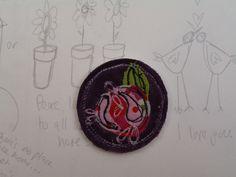Brooch: Wild Rose textile £4.50