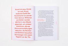 Management von Kunstgallerien on Behance – Design Text Layout, Essay Layout, Magazine Layout Design, Book Design Layout, Print Layout, Magazine Layouts, Editorial Layout, Editorial Design, Mise En Page Portfolio