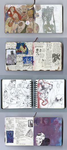 Matthew Filipkowski   #Sketchbook   https://www.behance.net/gallery/17240697/Selected-Sketchbook-Pages-Set-1