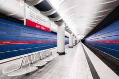 Gallery of These Photographs Capture the Colorful Architecture of Europe's Metro Stations – 14 – color of life Munich, Utopia Dystopia, Lego Trains, U Bahn, Architectural Photographers, Metro Station, Environmental Design, Urban Planning, Color Of Life