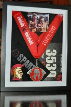 My Little Spot of Sanity Barbara created this awesome shadowbox to celebrate participating in the Spartan Race!