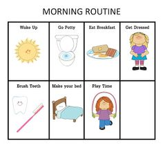 Morning & Night Routine Chart