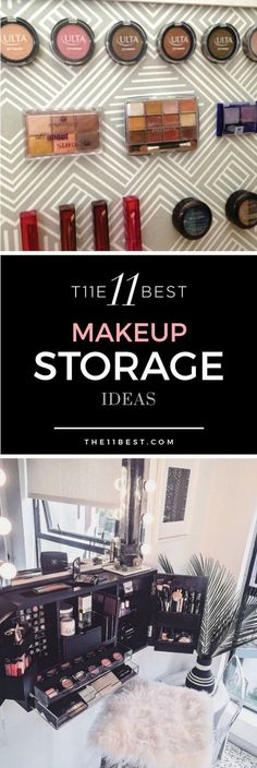 I NEED THIS! Makeup storage and organization ideas. DIY and makeup storage solutions!