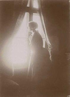 Gabriel Loppé - Julia Stephen at the Bear, Grindelwald, Switzerland, 1889.  (Vanessa Bell's favorite photograph of her mother.)