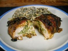 Chicken Breast stuffed with fresh Broccoli and Monterey Jack!