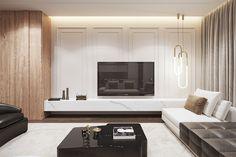 Living Room Tv, Living Room Interior, Home Interior Design, Living Room Furniture, Tv Wall Design, House Design, Family Apartment, Family Room Design, Living Room Designs