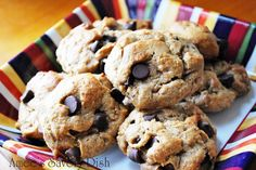 Almond Butter Dark Chocolate Chip Cookies #justeatrealfood #AmeesSavoryDish