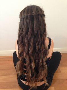 Curly Waterfall Braid - Flower girl hair :)