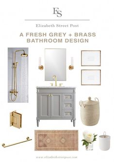 If I ever get to renovate a bathroom of my own, I fully plan on using stunning brass hardware for the sink and shower fixtures! It just looks so… awesome. Like you're i… BathroomFixturesideas 842454674030032162 Brass Bathroom Fixtures, Shower Fixtures, Bathroom Hardware, Bathroom Faucets, Brass Hardware, Brass Faucet, Glass Bathroom, Bathroom Cabinets, White Bathroom