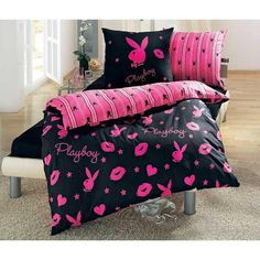 I found 'Playboy bedding' on Wish, check it out!