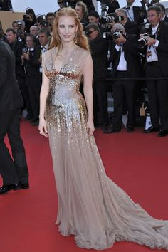 Jessica Chastain in Gucci at Cannes (2012)