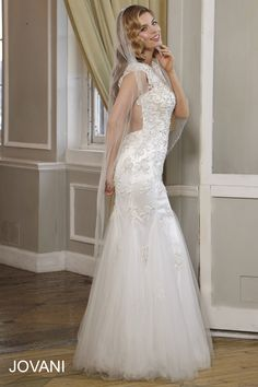 A gorgeous open back like #Jovani #Bridal JB90231 will leave all of your guests speechless. http://www.jovani.com/wedding-dresses/jb90231 #WeddingDress #BridalGown