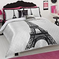 paris bedding | PARIS EIFFEL TOWER SINGLE TWIN bed QUILT DOONA COVER SET NEW
