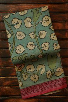 Kalamkari Hand Block printed sarees available online. Shop online for new range of collection of hand painted, hand printed and pen kalamkari silk sarees.