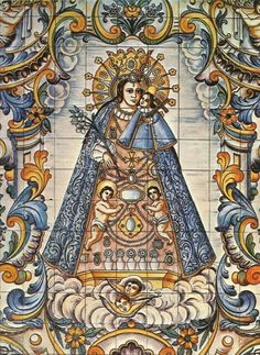 allaboutmary:    Virgen de los Desamparados    A panel of tiles depicting Our Lady of the Forsaken in Valencia, Spain.