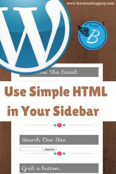 This tutorial gives the beginner some easy tips for using HTML to align text in sidebars, using code to display images, and even how to turn those images into links. It's a low-test introduction to...