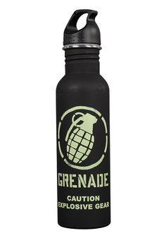 GRENADE Water Bottle black/green. Only 12.95 € at www.planet-sports.com