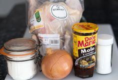 Ingredients for not-quite-homemade mole